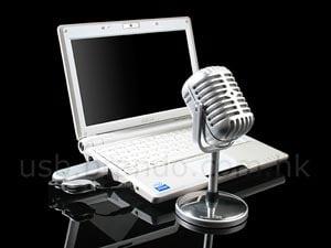 usb retro wireless microphone