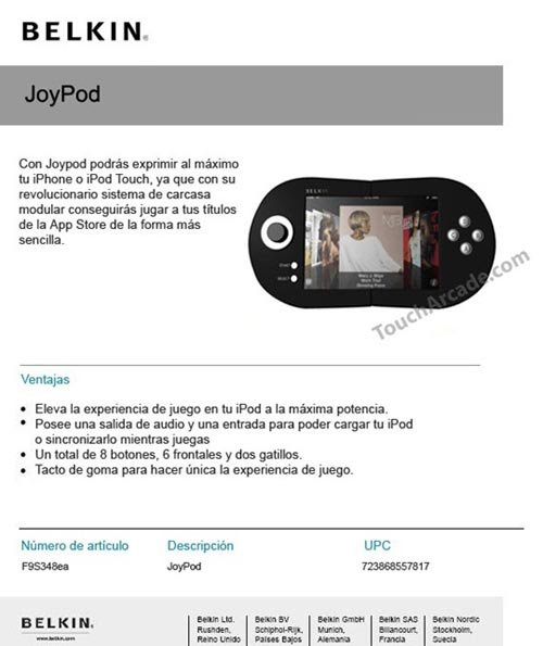 belkin joypod iphone 3g