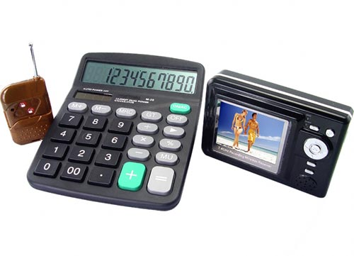 calculator spy video camera