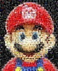 Geek Art – The Mario Video Game Mosaic Print