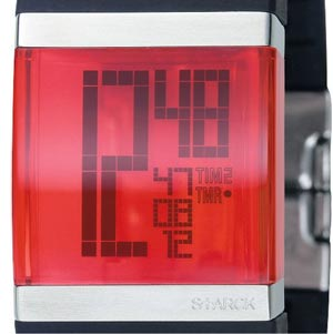 philippe starck crystal clear lcd watch