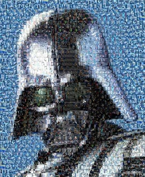 Geek Art Star Wars Darth Vader Mosiac Montage