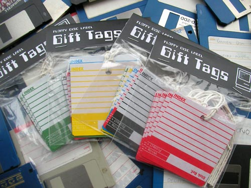 floppy disk label gift tags