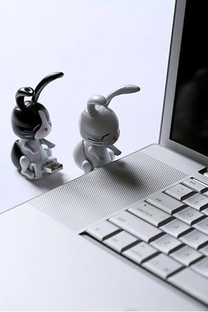 humping bunnies usb flash drive