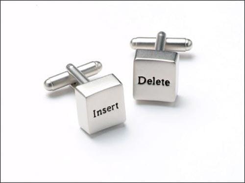 insert delet cufflinks