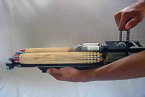 Cool Mods The Double Barreled Lego Rubberband Minigun