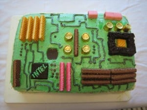 Geeky Cakes – The Motherboard Cake