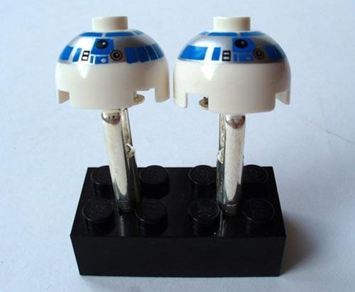 r2-d2 lego cufflinks