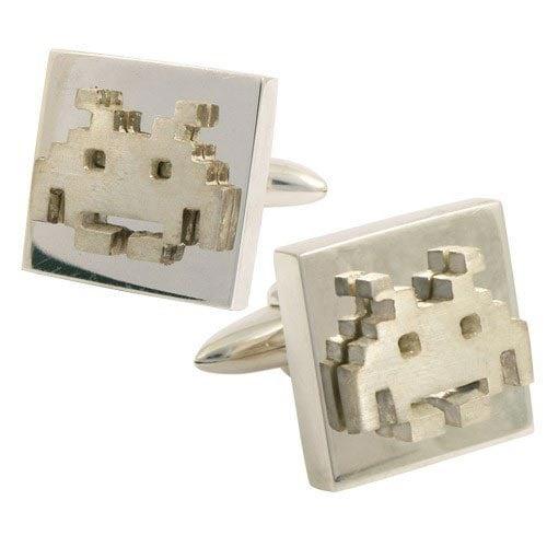 space invaders cufflinks