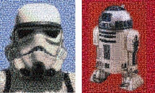 Geek Art Star Wars Darth Vader Mosiac Montage