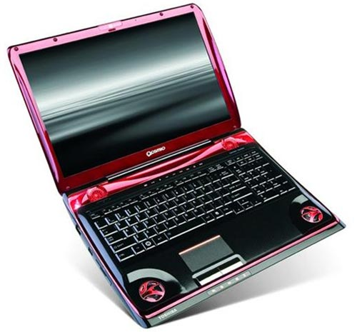 toshiba launches a high end gaming laptop the qosmio. Black Bedroom Furniture Sets. Home Design Ideas