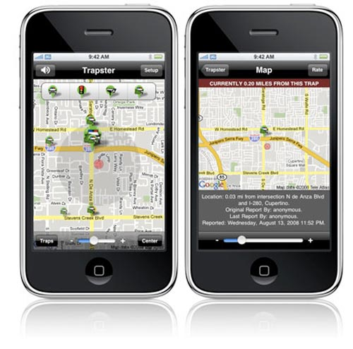 trapster iPhone App