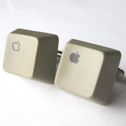 rare apple  keyboard cufflinks