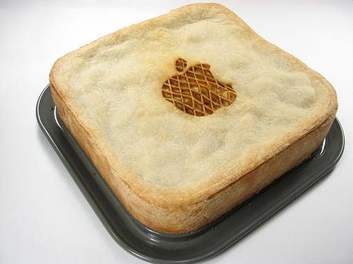 apple logo pie