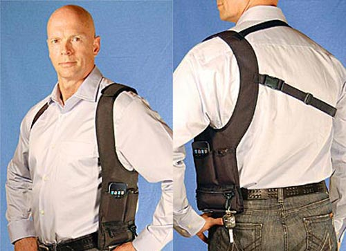 iPhone shoulder holster