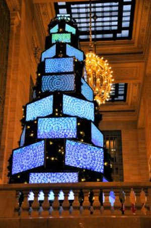 sharp LCD TV Xmas Tree
