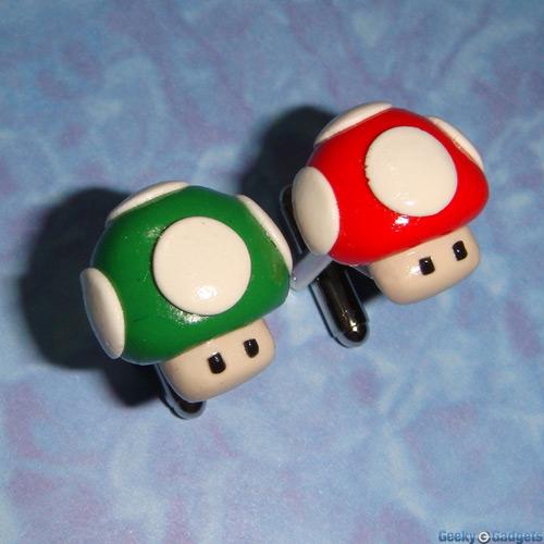 Mario Mushroom Cufflinks