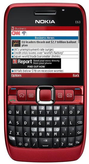 Nokia E63 Business Phone gets official