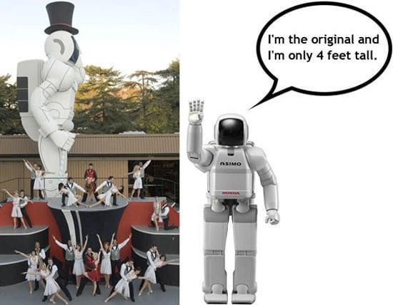 giant asimo robot