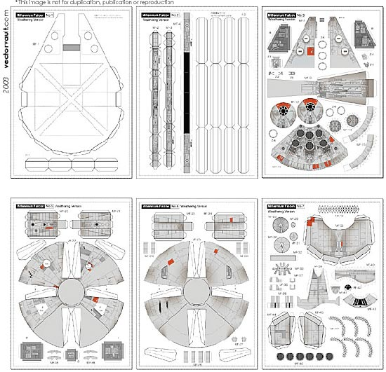 papercraft millennium falcon. Black Bedroom Furniture Sets. Home Design Ideas
