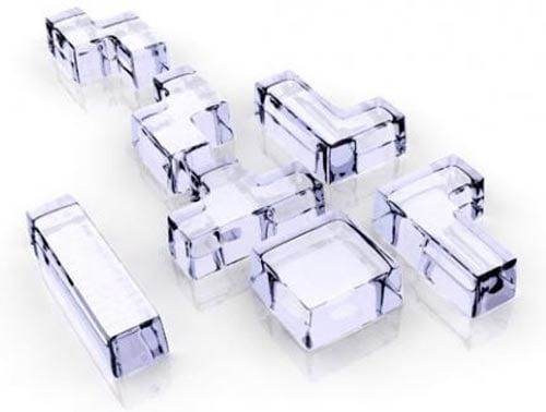 tetris ice cubes