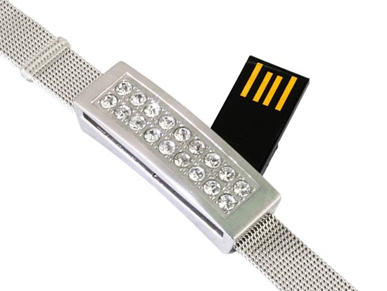 USB Jewel Bracelet Thumb Drive