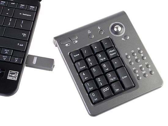 USB Wireless Trackball Keypad