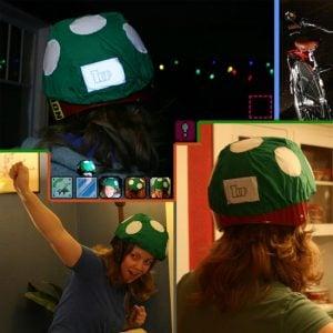 Geek Accessories – 1-Up Mushroom Bicycle Helmet Rain Cover