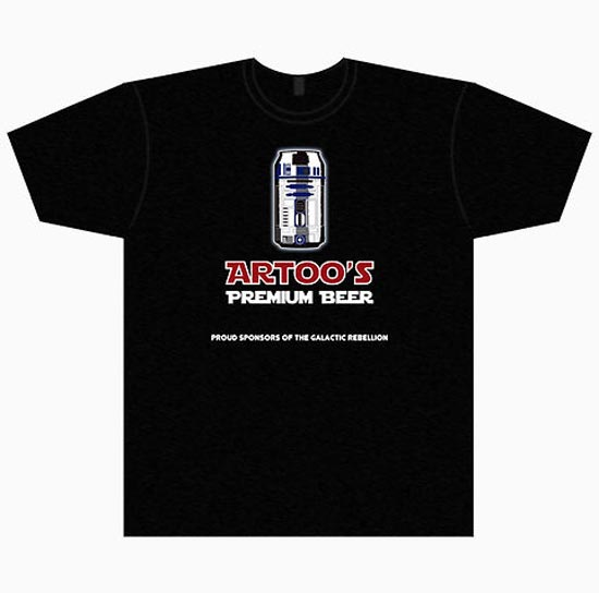 artoo's premium beer t-shirt