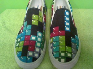 Geeky Clothing – Custom Painted Video Game Shoes