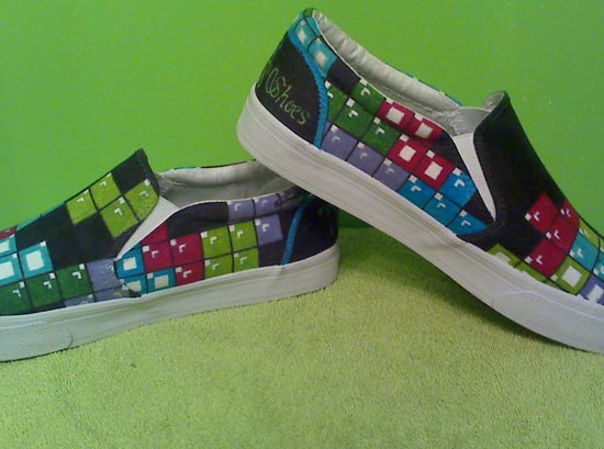 Custom Painted Video Game Shoes