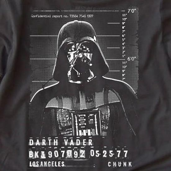 Darth Vader Mugshot T-Shirt