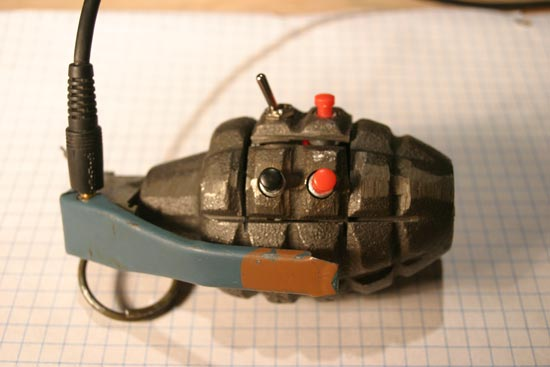 DIY Hand Grenade MP3 Player
