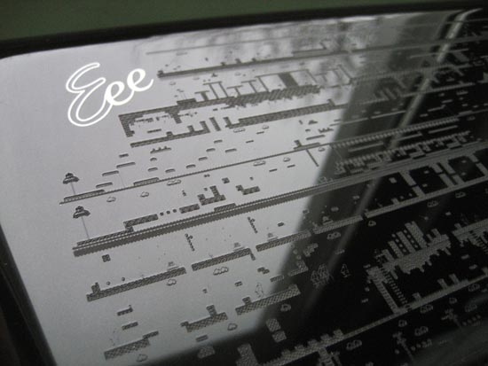 Laser Etched Mario Eee PC