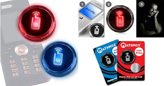 mathmos flashing badge