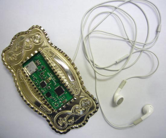 Belt Buckle MP3 Player