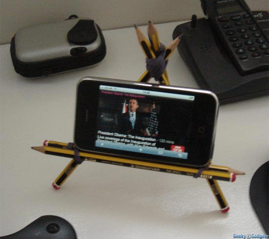 Update: Pencil iPhone Stand