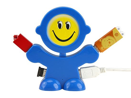 Smiling Face 4 Port USB Hub