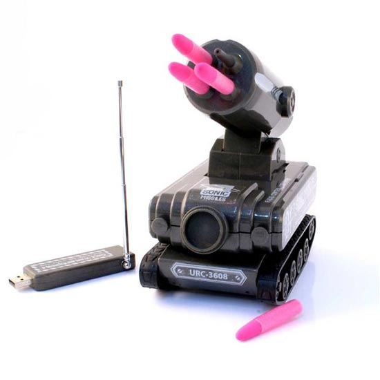 Toys Geek Gadgets : Usb tank missile launcher