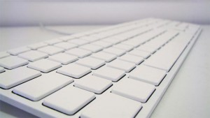 The White Apple Keyboard