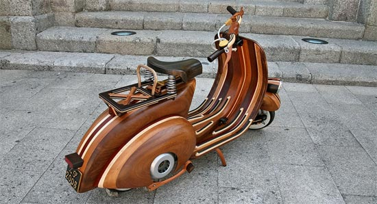 Hand Made Wooden Vespa