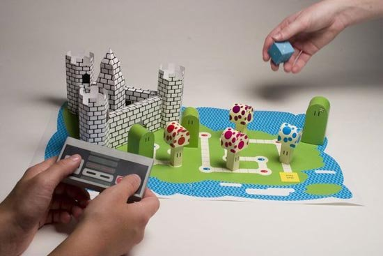 papercraft mario board game