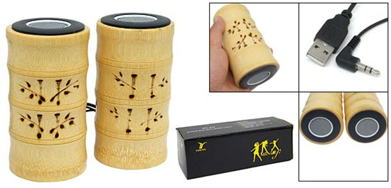 USB Bamboo Speakers