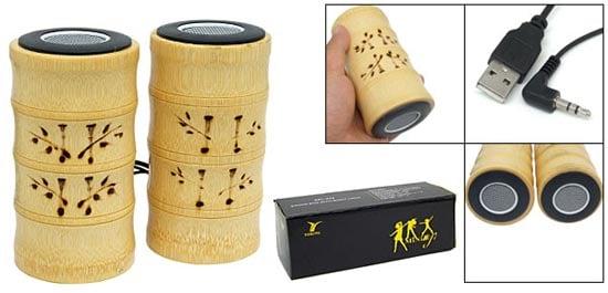 USB Bamboo Speakers