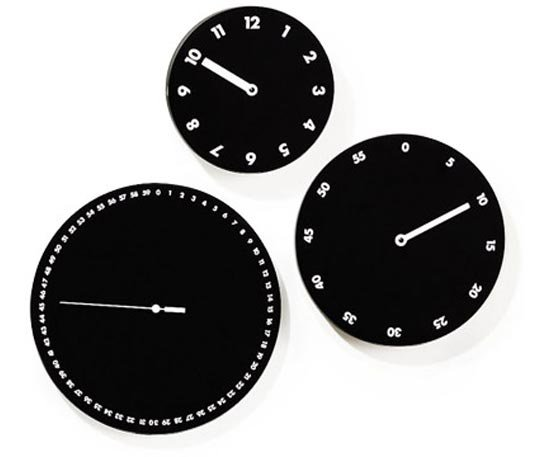 three face wall clock