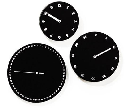 three face wall clock