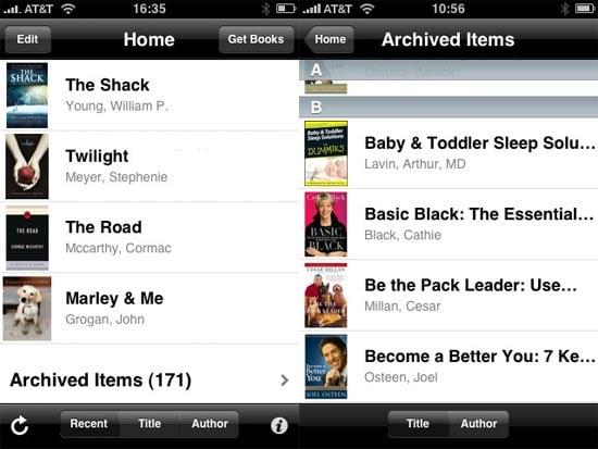 Amazon Kindle iPhone App