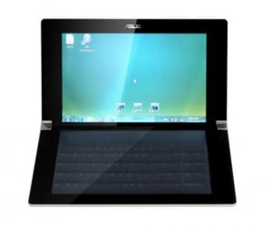 Asus Dual Screen Laptop features a touchscreen keyboard