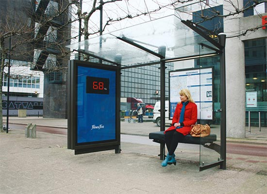 Bus Stop Measures Your Weight