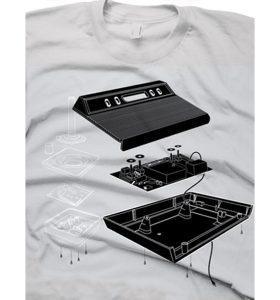 The Exploded Atari 2600 T-Shirt